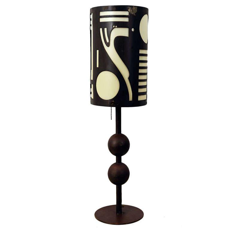 Rare Modernist Table Lamp  Designed By Karl Hagenhauer