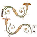 Pair of Silvered Venetian Candle Sconces
