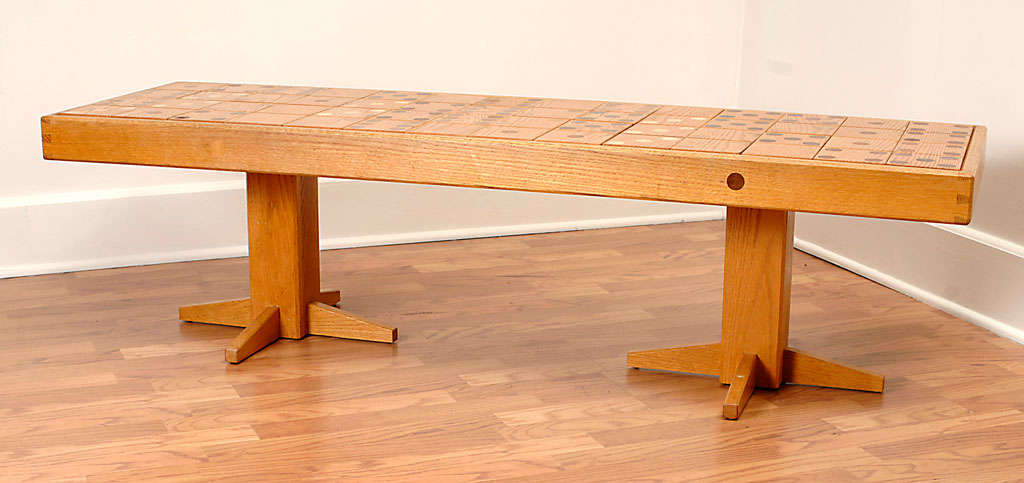 70s Artisan Dominoes Game Coffee Table At 1stdibs