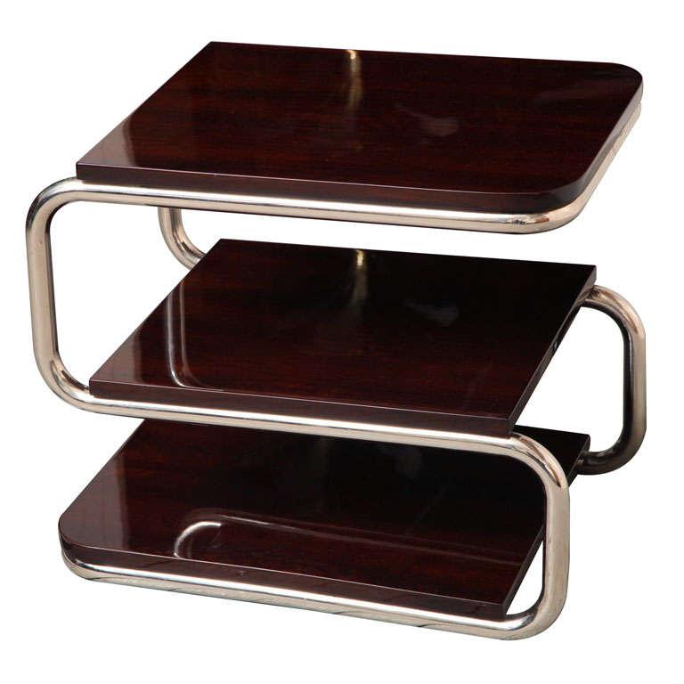 Bauhaus Influence Modernist Side Table At 1stdibs