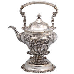 Sterling Silver Gorham Tea Kettle on Stand