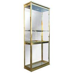 Mid-Century Brass and Glass Mastercraft Display Cabinet