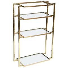 Wall-Mounted Four Shelf Brass Vanity