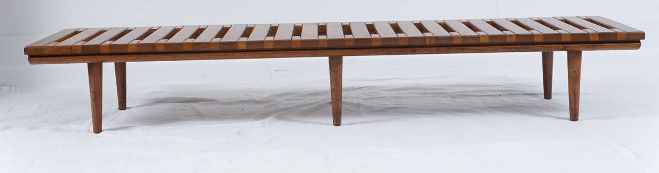 mid century modern bench uk wooden slat with back benches for sale