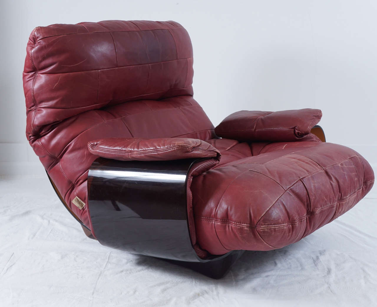 Michel Ducaroy Perspex And Leather Lounge Chair And Ottoman For