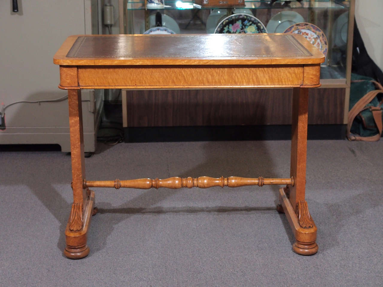 Antique Regency Burl Maple Writing Table For Sale At 1stdibs