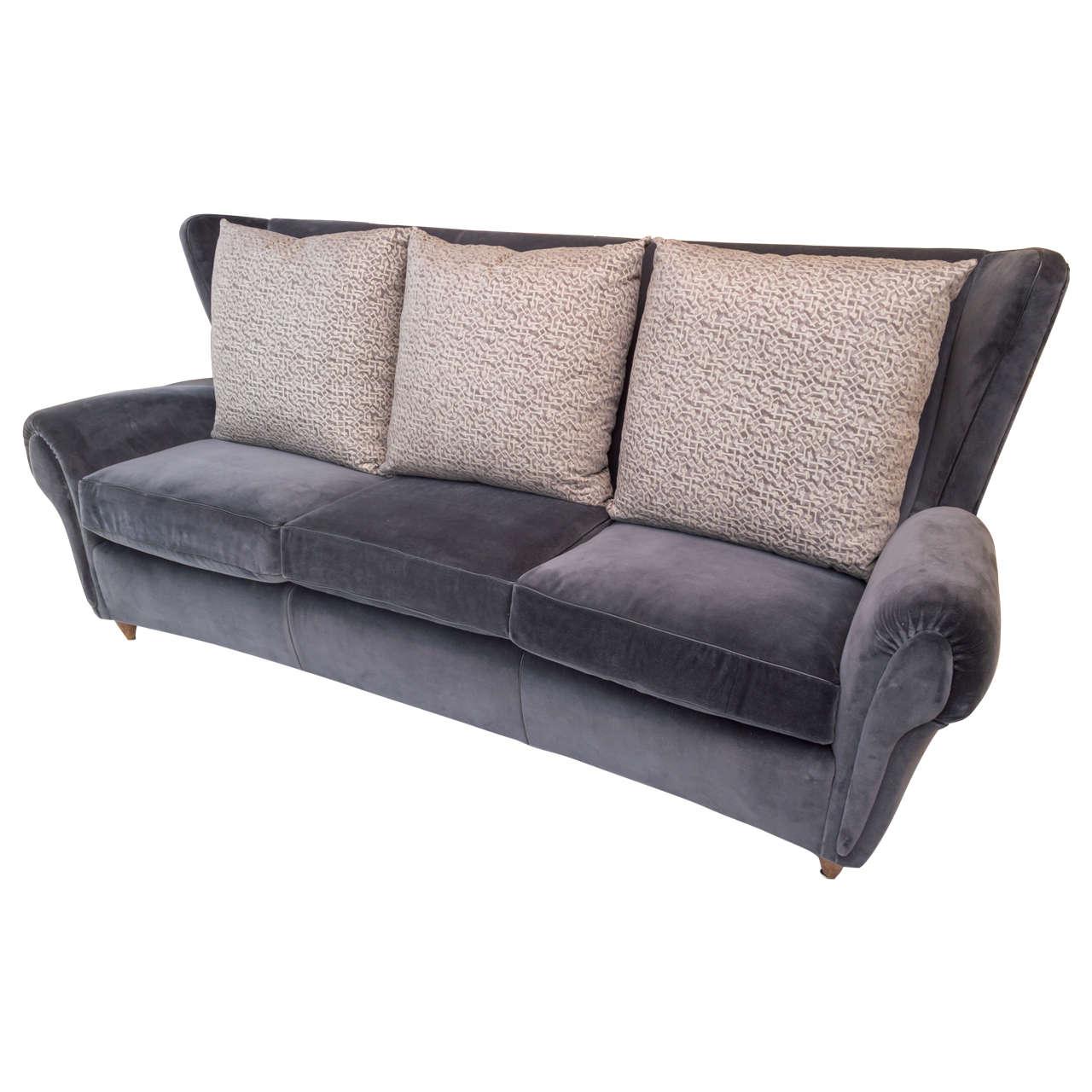 Italian Wingback Sofa For