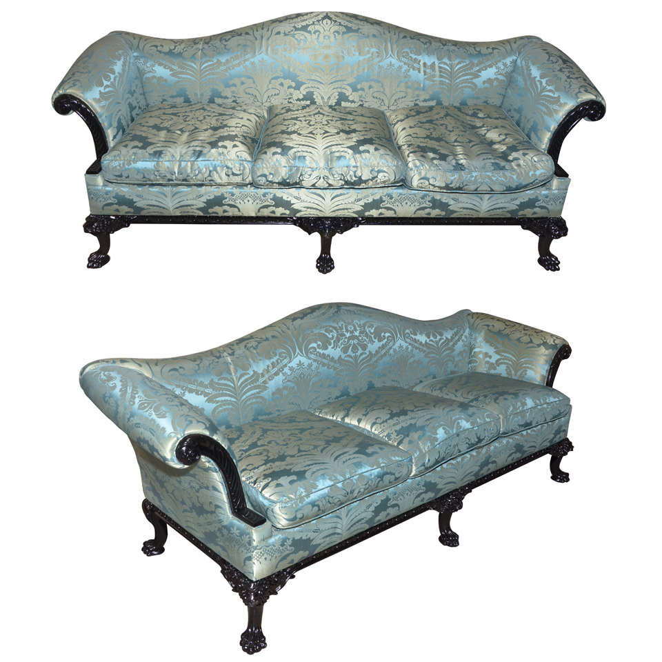 Two 1980s English Regency Style Sofas At 1stdibs