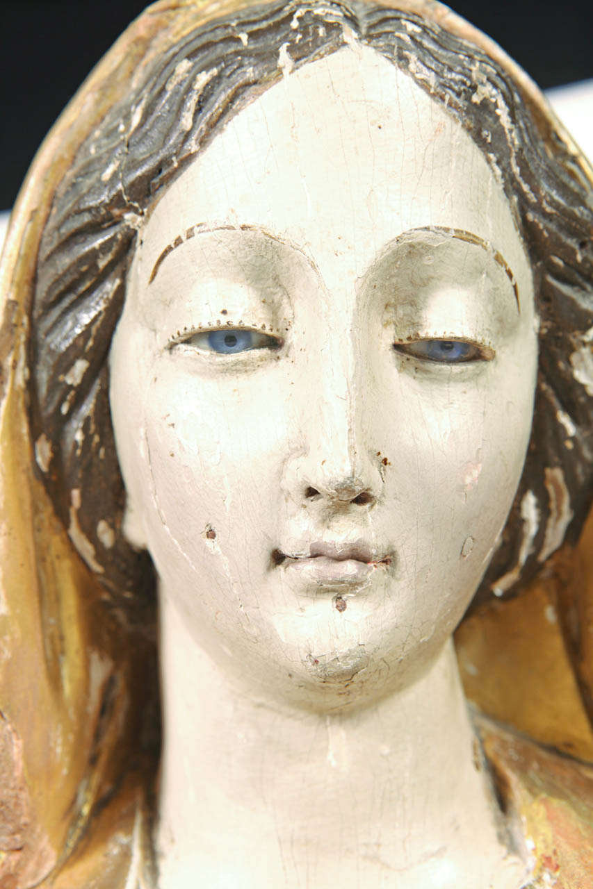 18th Century Carved Statue Of The Virgin Mary At 1stdibs