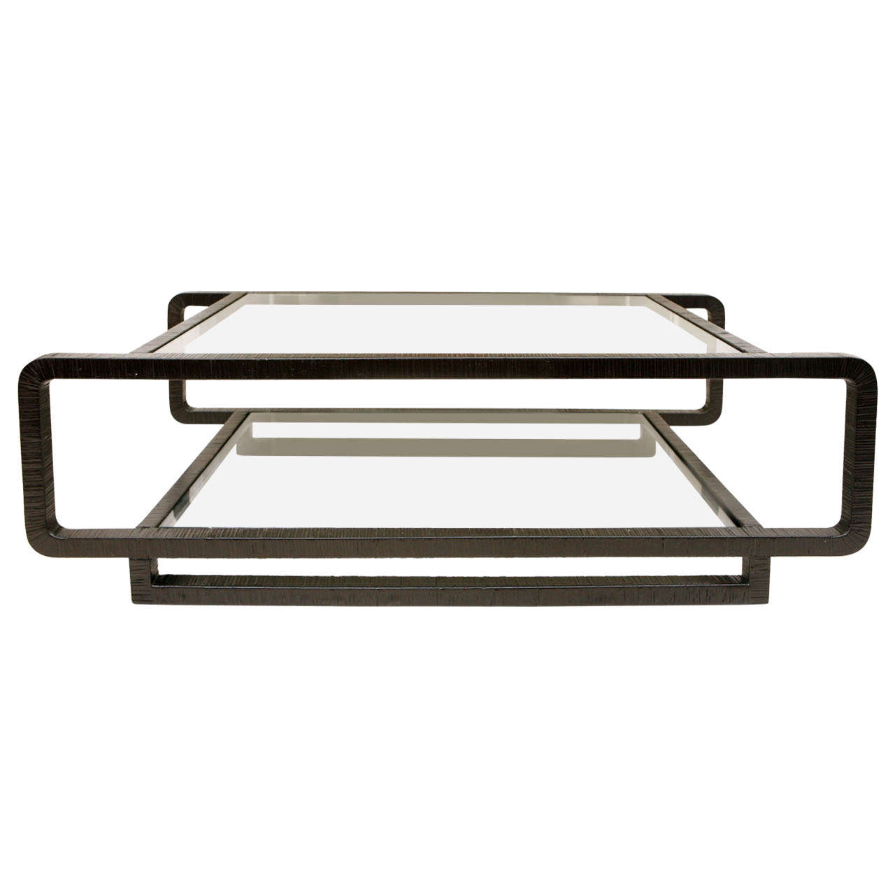Vintage Cane And Glass Coffee Table At 1stdibs