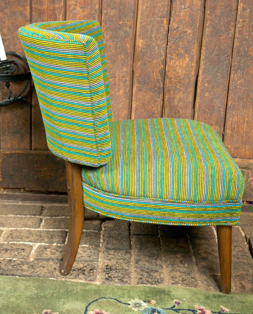 American Midcentury Modern Slipper Chair For