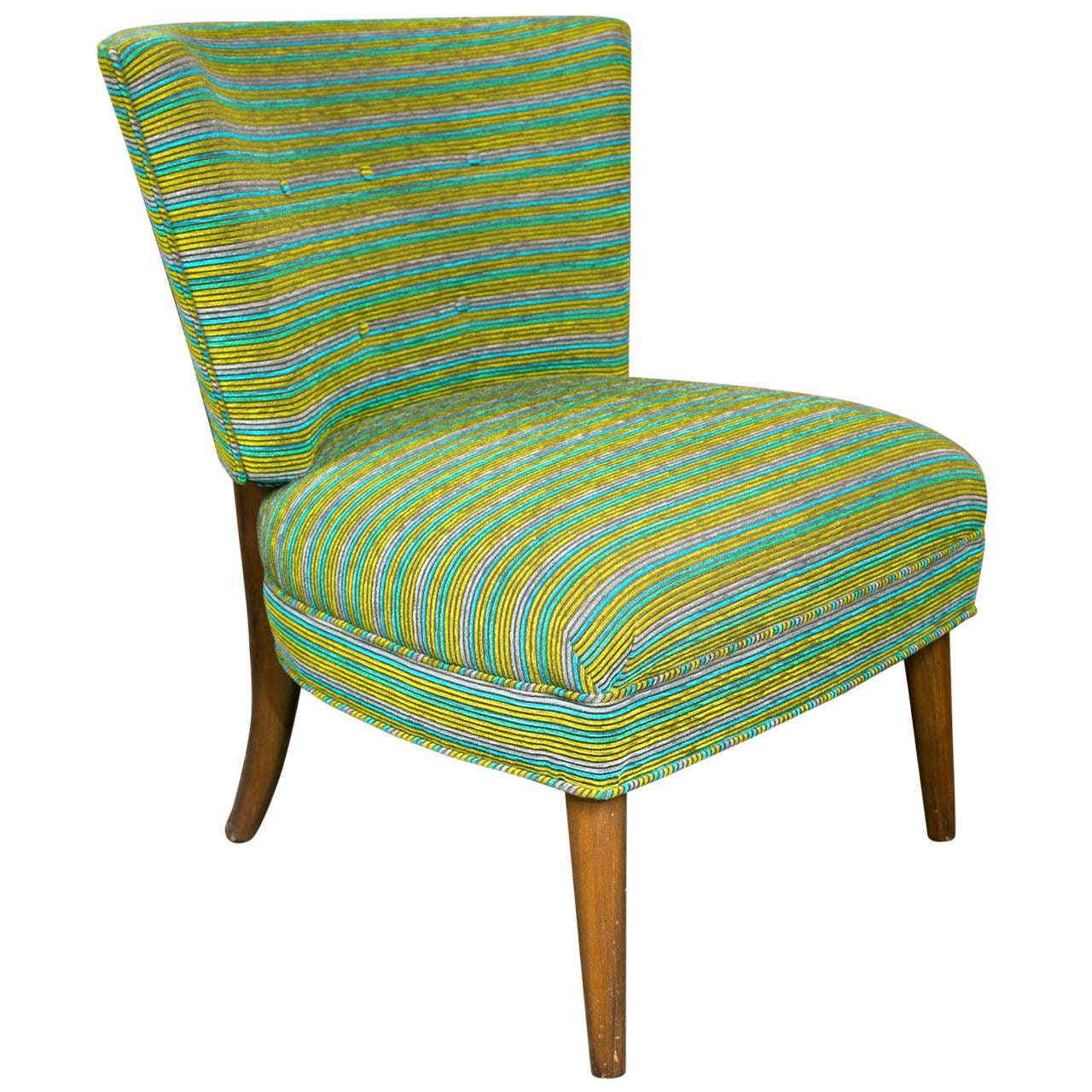Midcentury modern slipper chair for sale at 1stdibs for Slipper chair