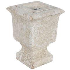 Pair of Cast Concrete Urn
