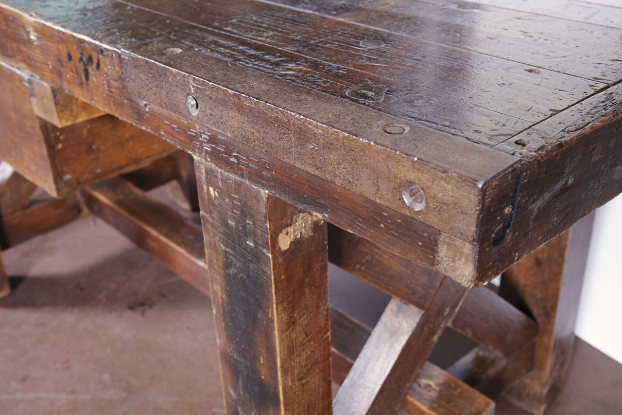 Antique French Shop Bench At 1stdibs