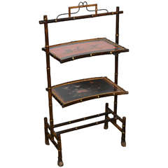 Rare Oriental-Style Bamboo Victorian Pastry Stand