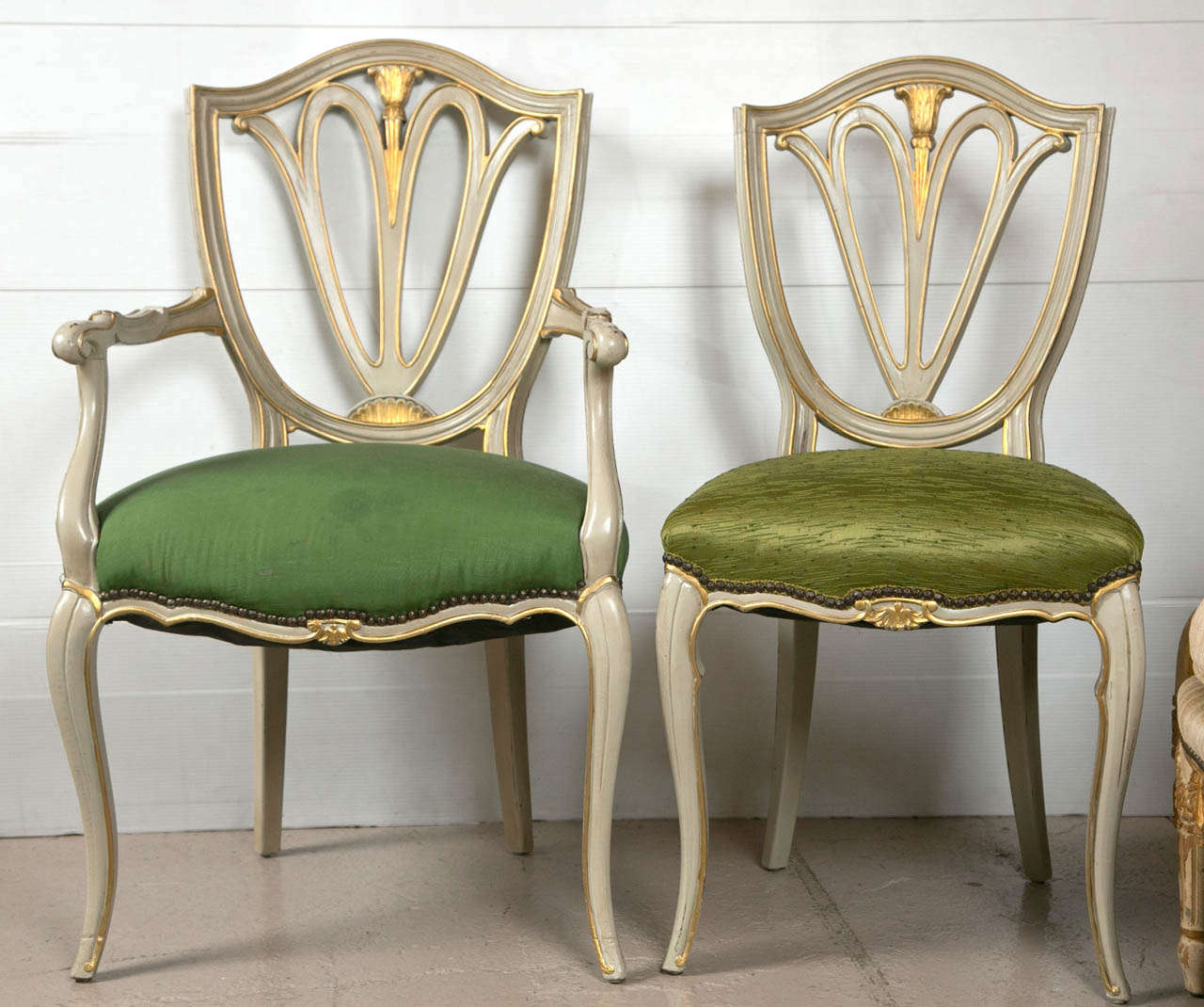 Set of eight swedish style dining chairs at 1stdibs for Swedish style dining chairs