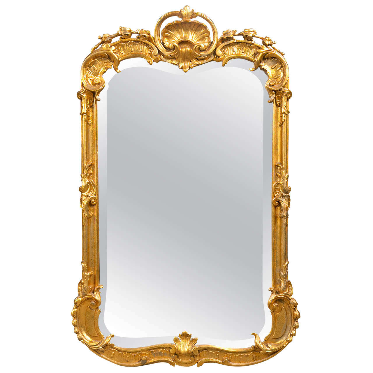 French rococo style gilded mirror at 1stdibs for French mirror