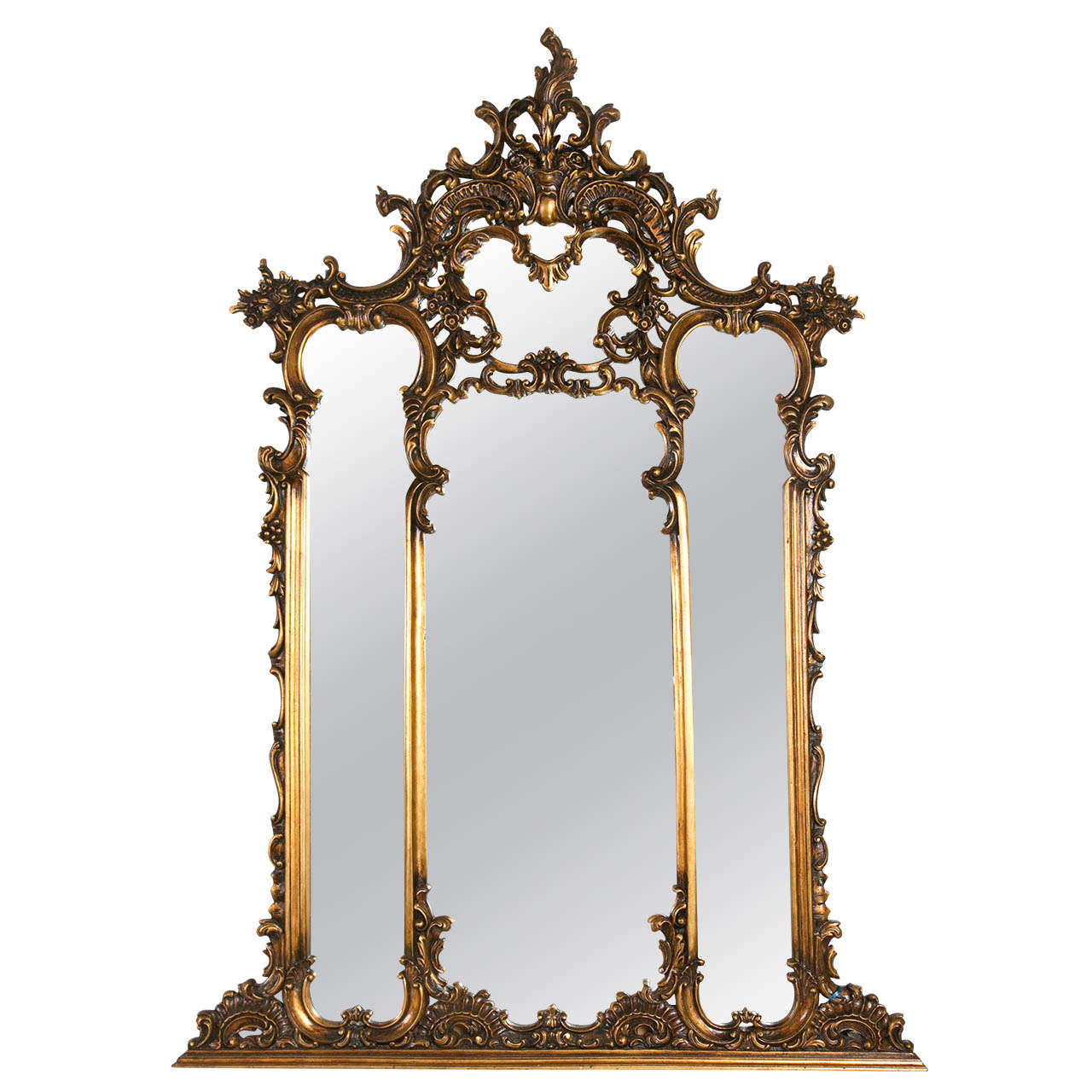 Fine French Carved over the Mantle Mirror