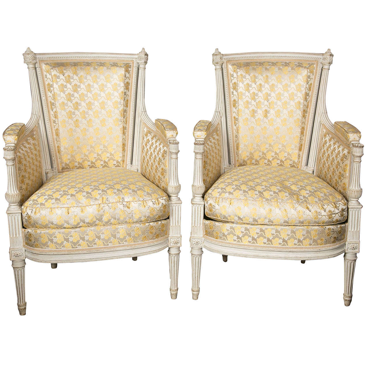 Decorative Arm Chairs ~ A fine pair of louis xvi style swedish decorative arm