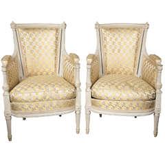 A Fine Pair of Louis XVI Style Swedish Decorative Arm Chairs, Jansen