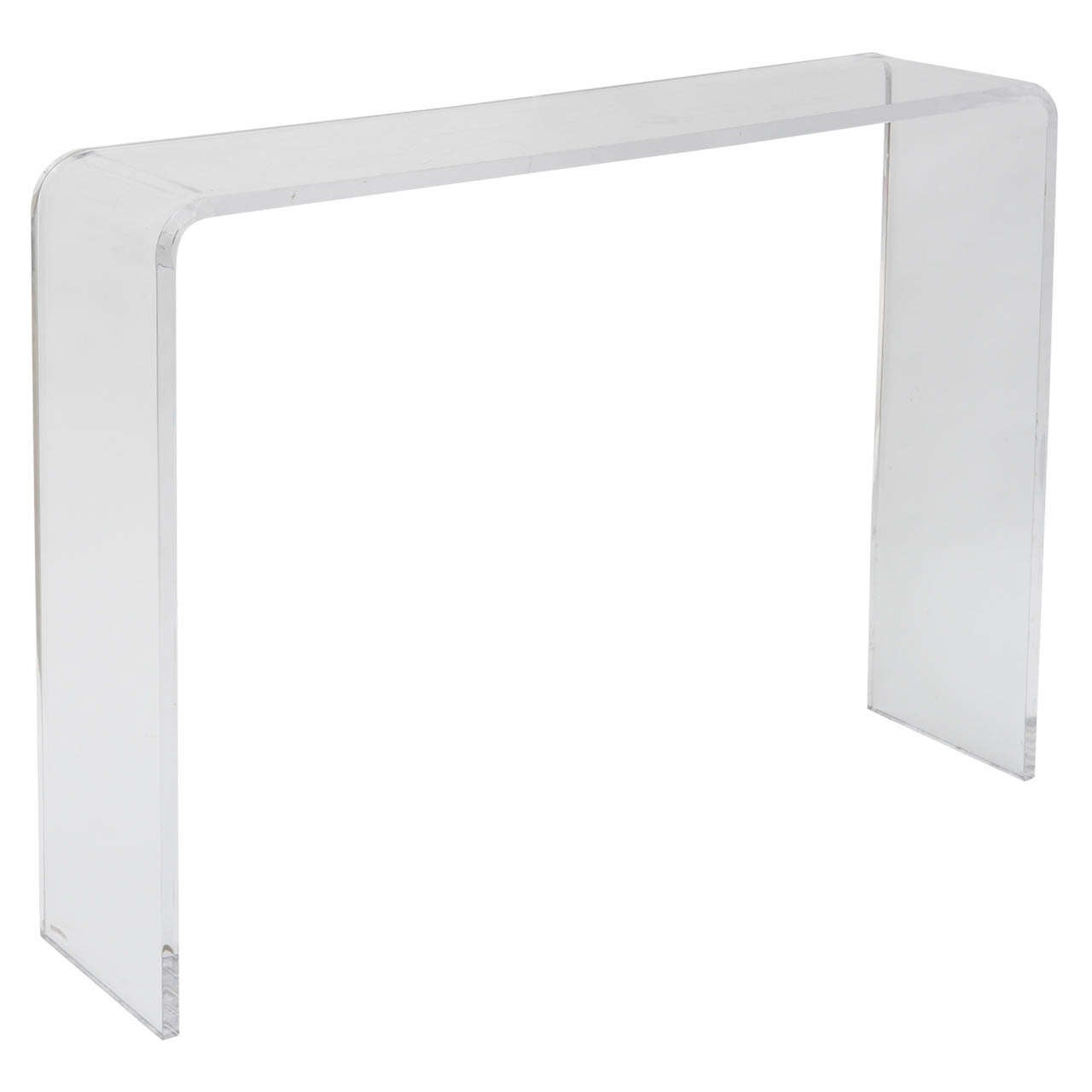 Skinny Lucite Console Table at 1stdibs