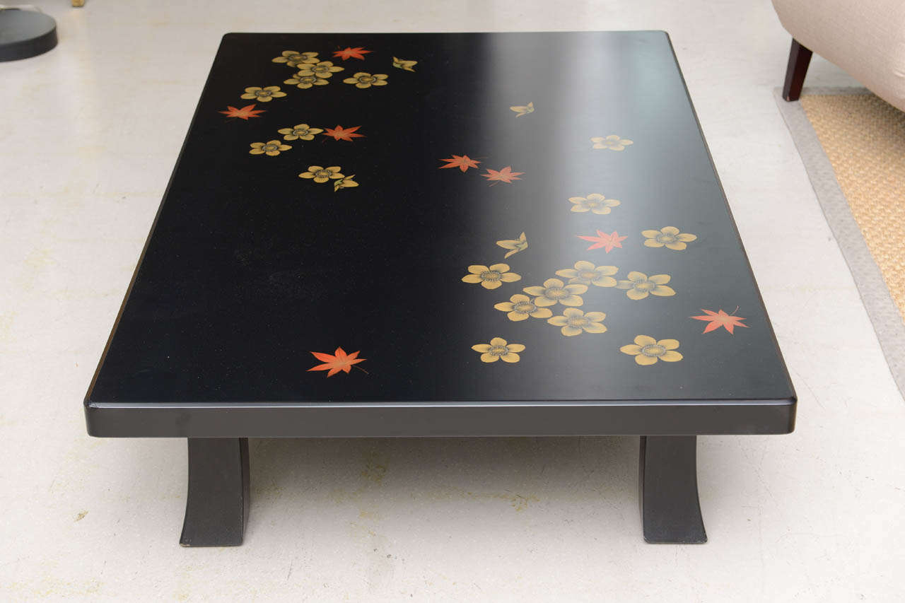 Black Asian Style Coffee Table For Sale At 1stdibs