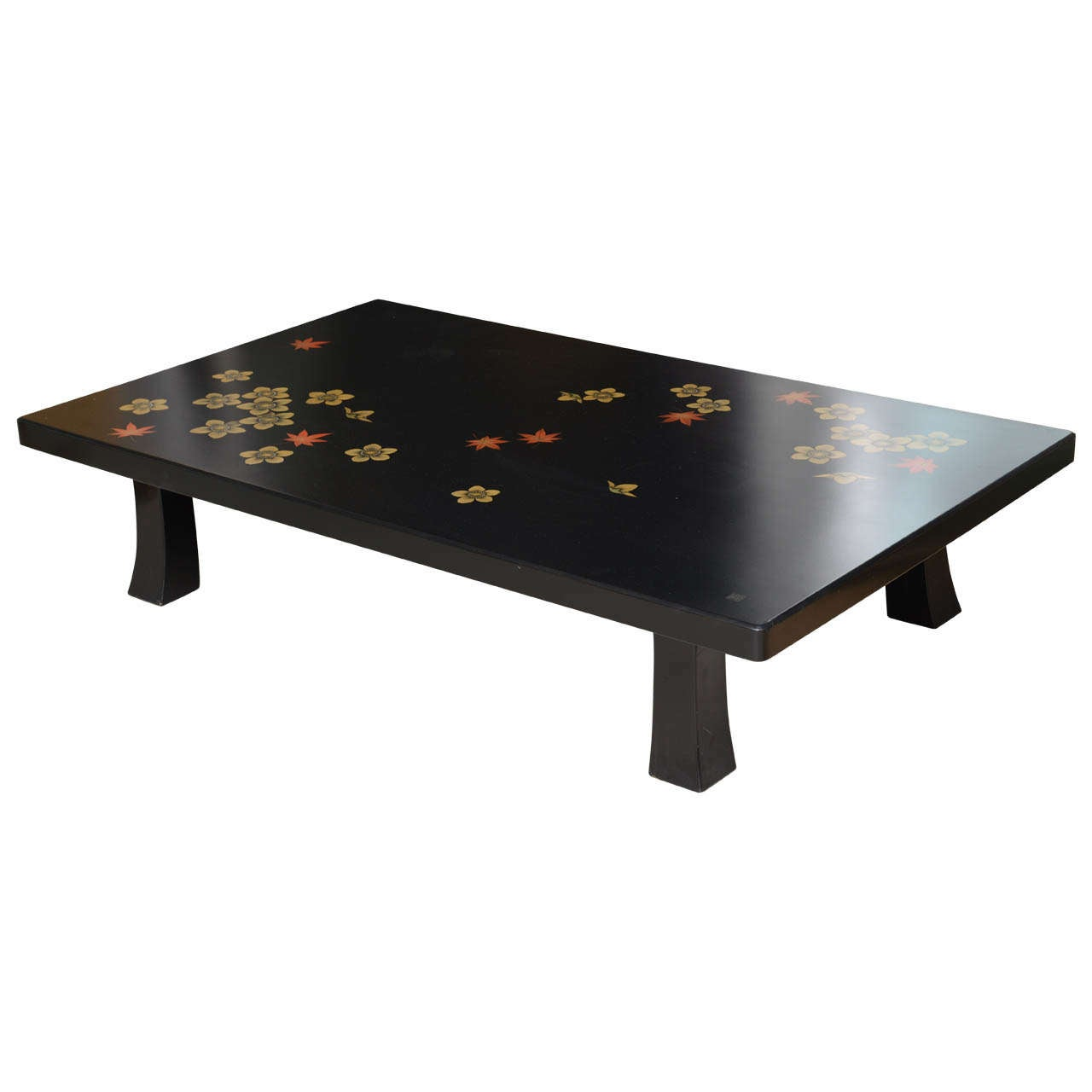 Black Asian Style Coffee Table At 1stdibs