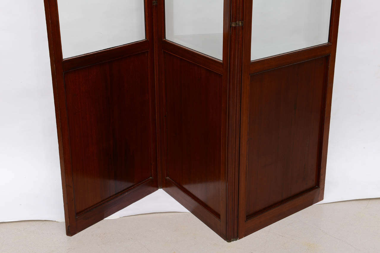 French Folding Screens : French mahogany folding screen for sale at stdibs