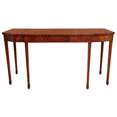 George III Period Breakfront Mahogany Serving Table, English, circa 1780