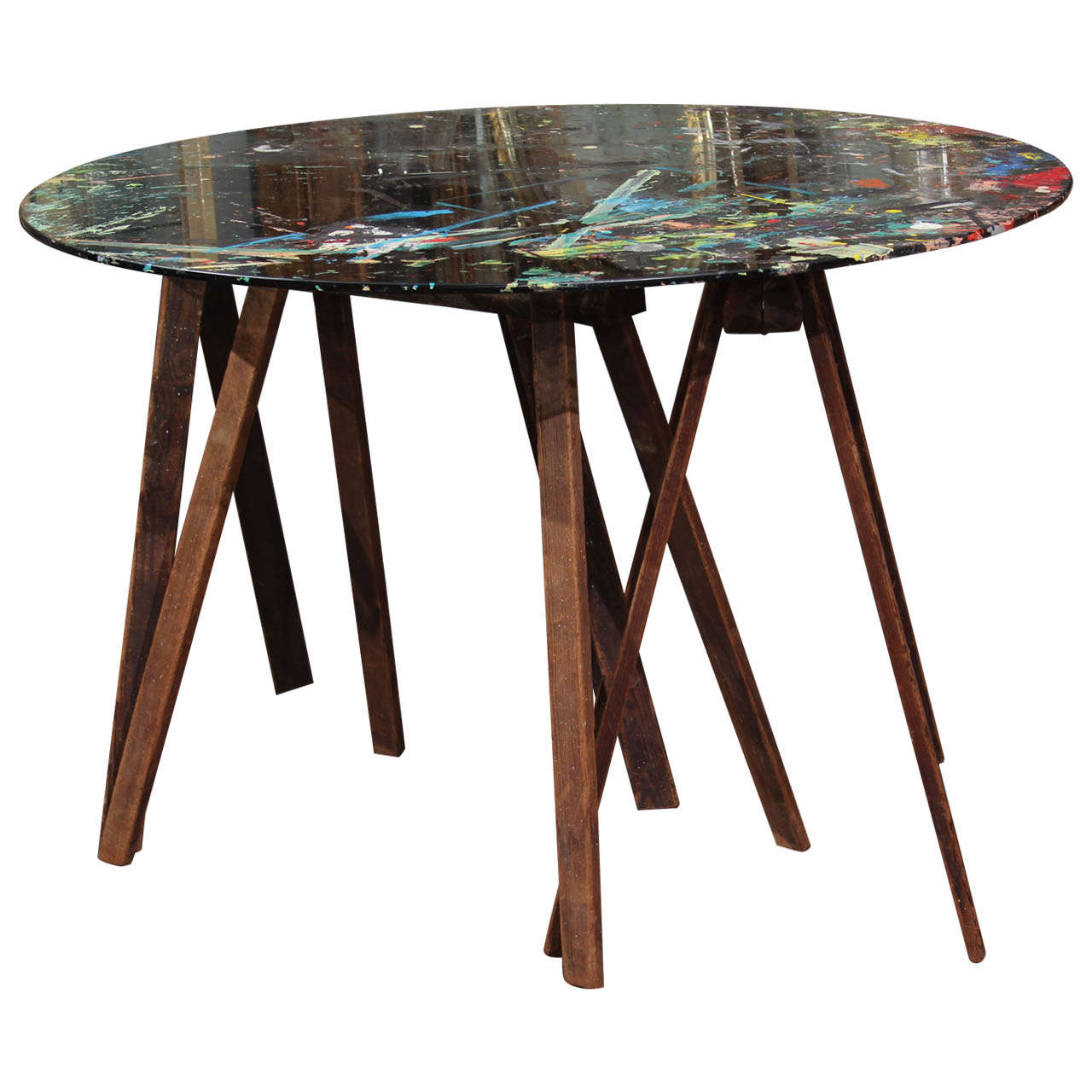 painters table   Nightwood NY   Table, Custom table, Furniture