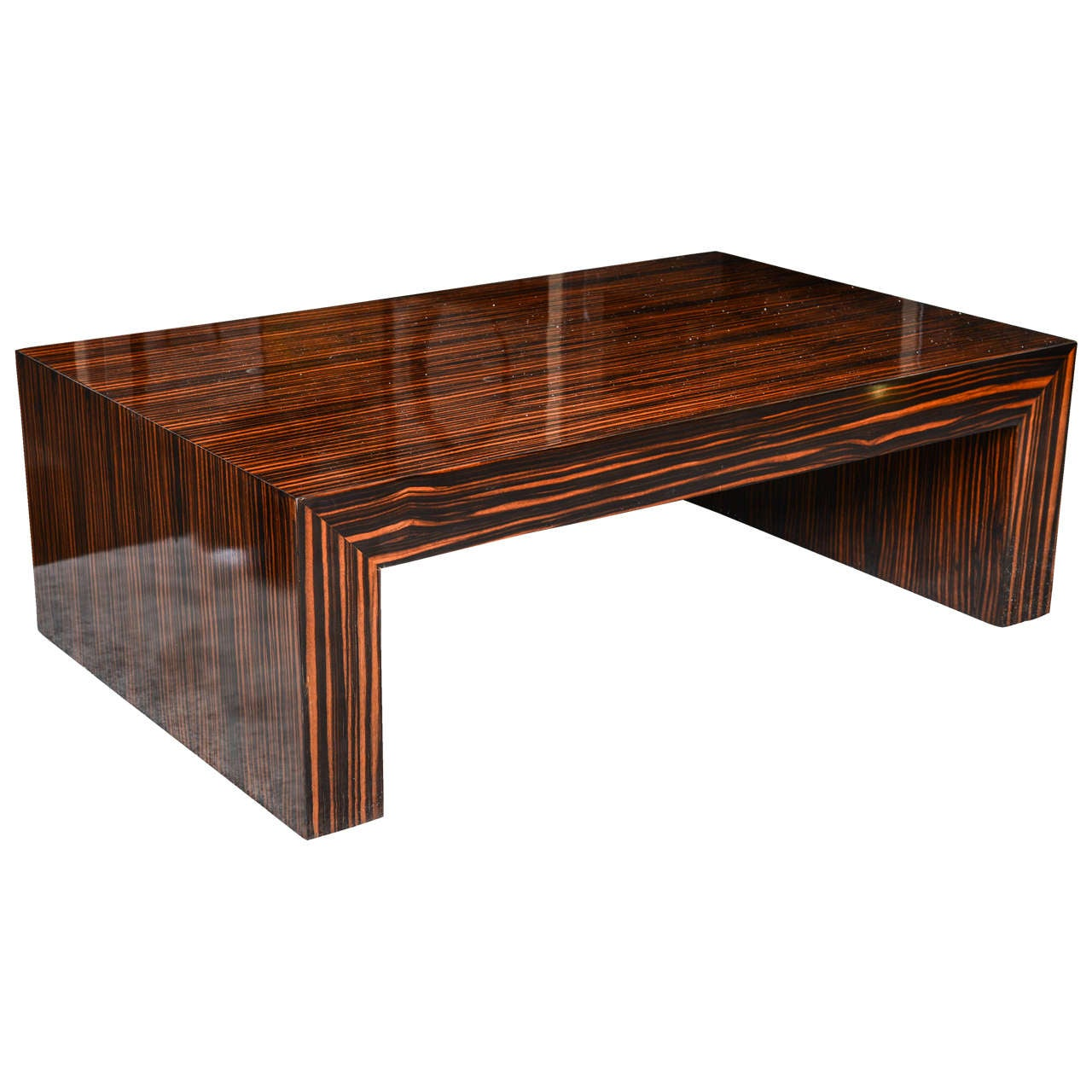 art deco style solid macassar coffee table at 1stdibs. Black Bedroom Furniture Sets. Home Design Ideas