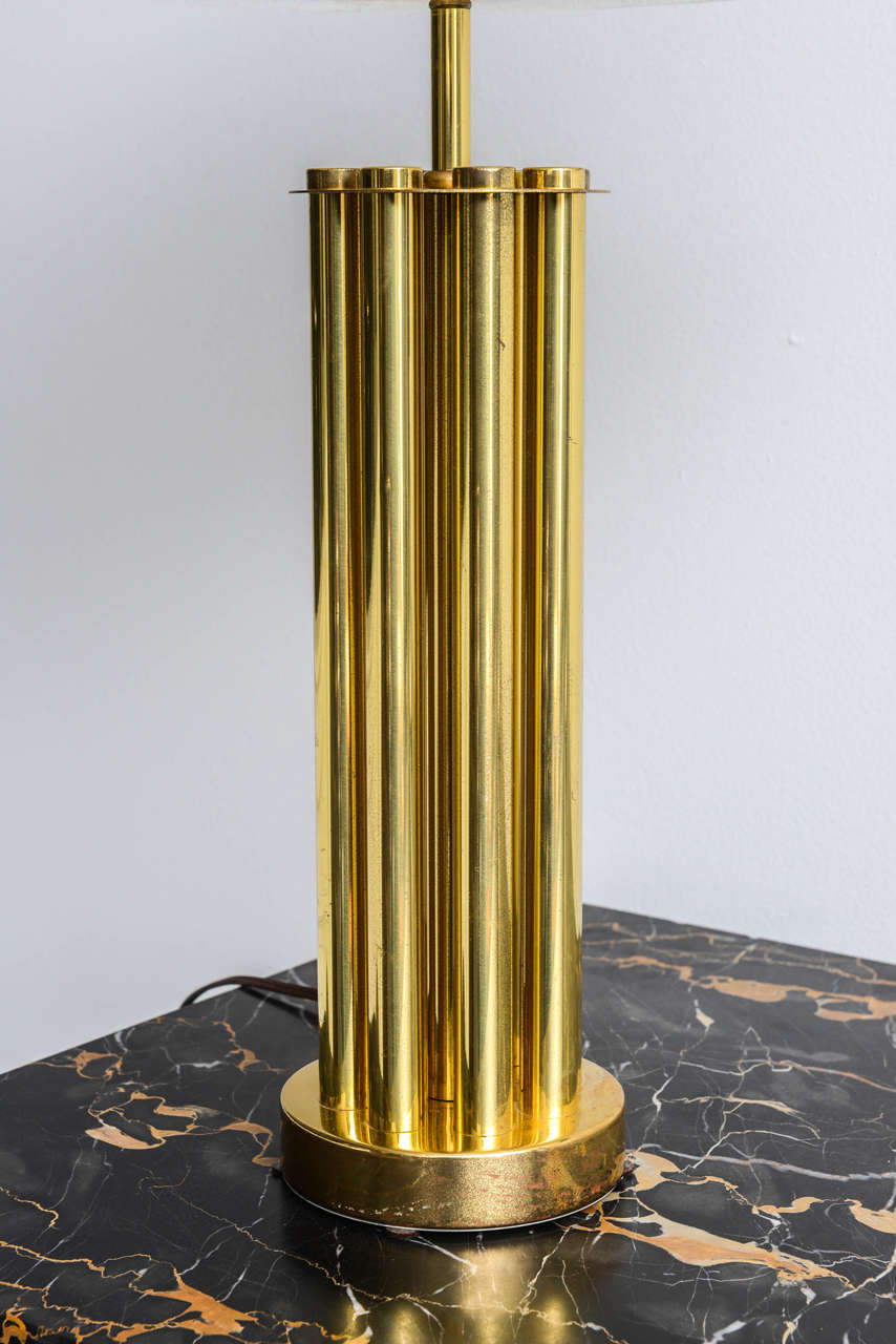 Late 20th Century Italian Mid-Century Barovier & Toso Glass and Bronze Table Lamp For Sale