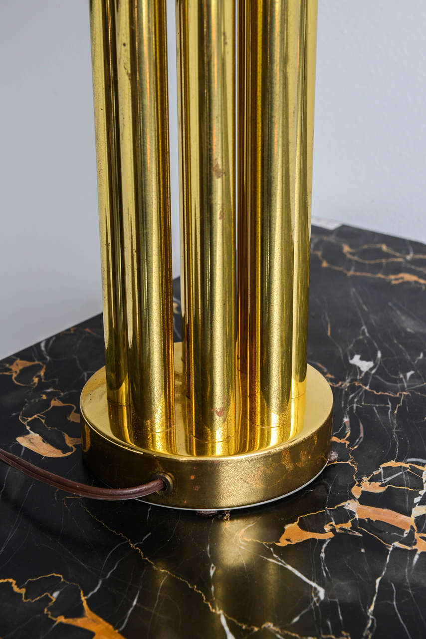 Italian Mid-Century Barovier & Toso Glass and Bronze Table Lamp For Sale 2