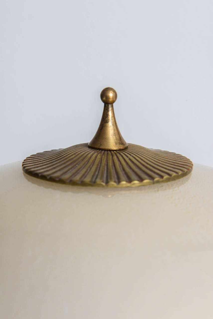 Italian Mid-Century Barovier & Toso Glass and Bronze Table Lamp For Sale 3