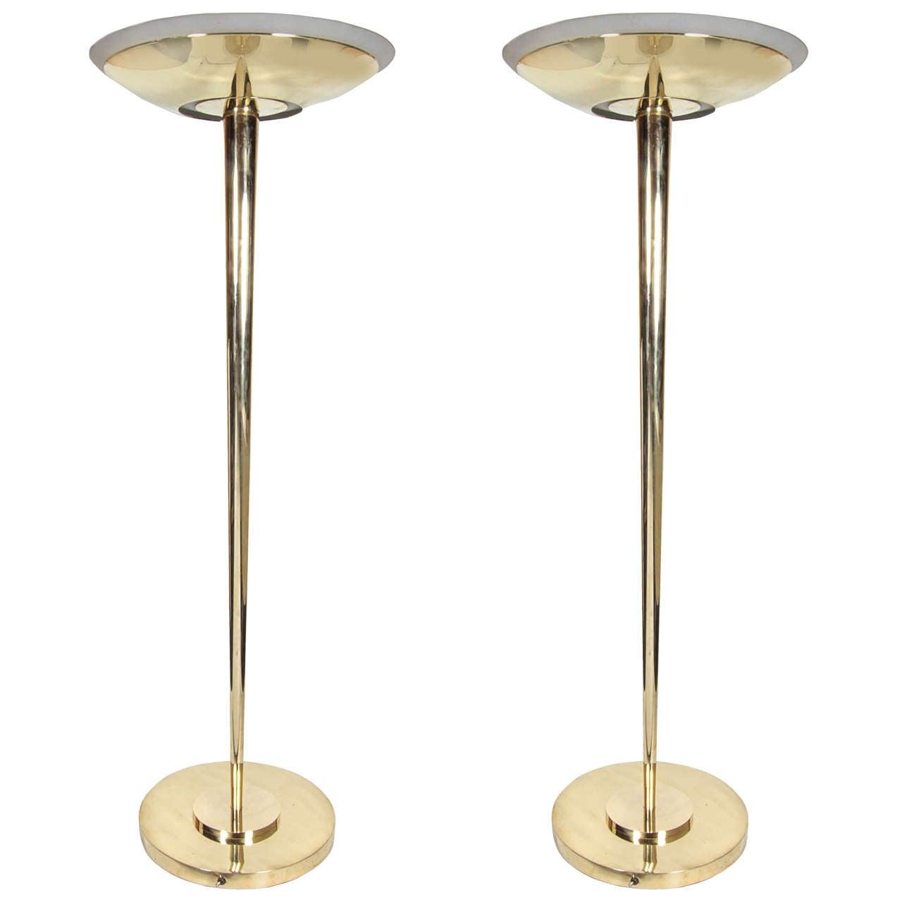 Pair of Jean Perzel Standing Lamps