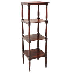 English Regency Mahogany Etagere, circa 1820
