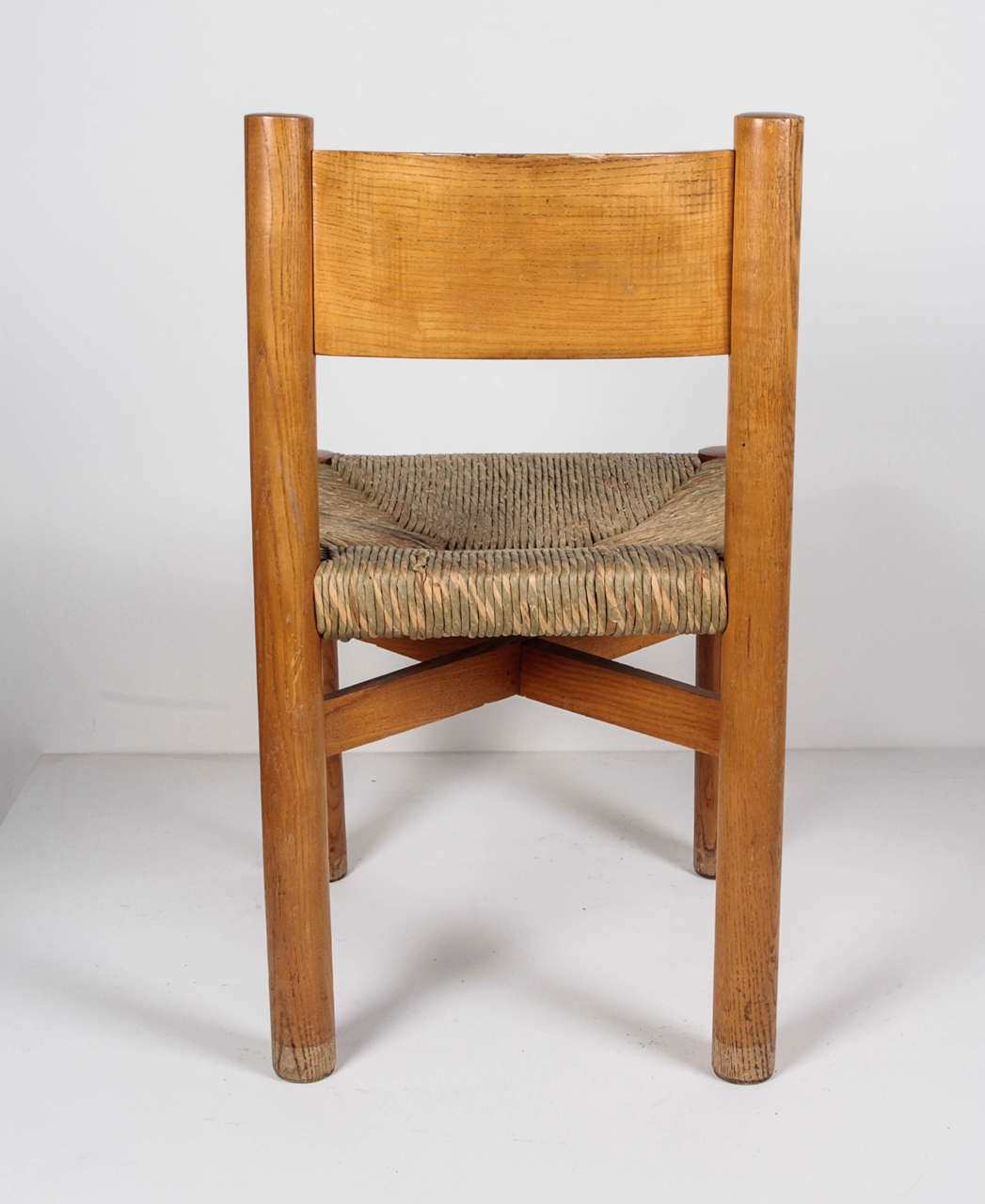 Oak Charlotte Perriand Chair, circa 1967 For Sale
