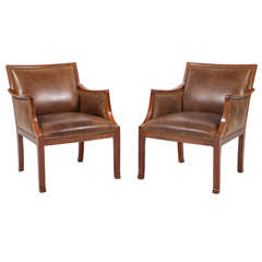 Pair of Frits Henningsen Armchairs