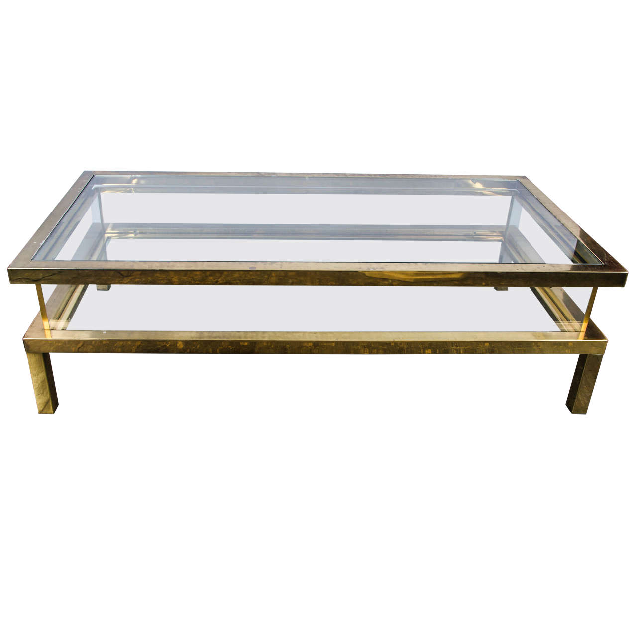 1960s french coffee table with a sliding glass top at 1stdibs for French glass coffee table