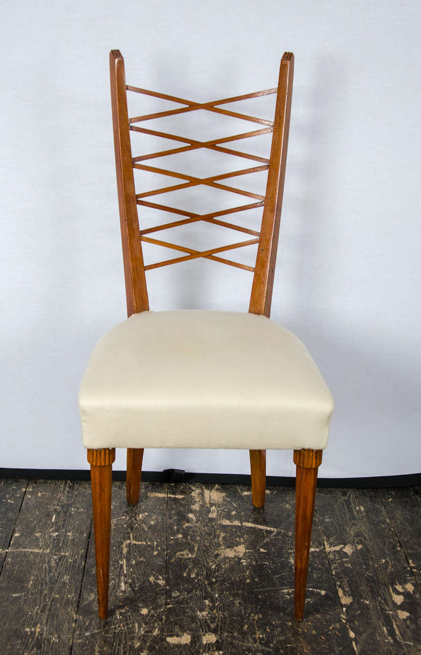 Set of six dining chairs by pier luigi colli for sale at for Pier 1 dining room chairs