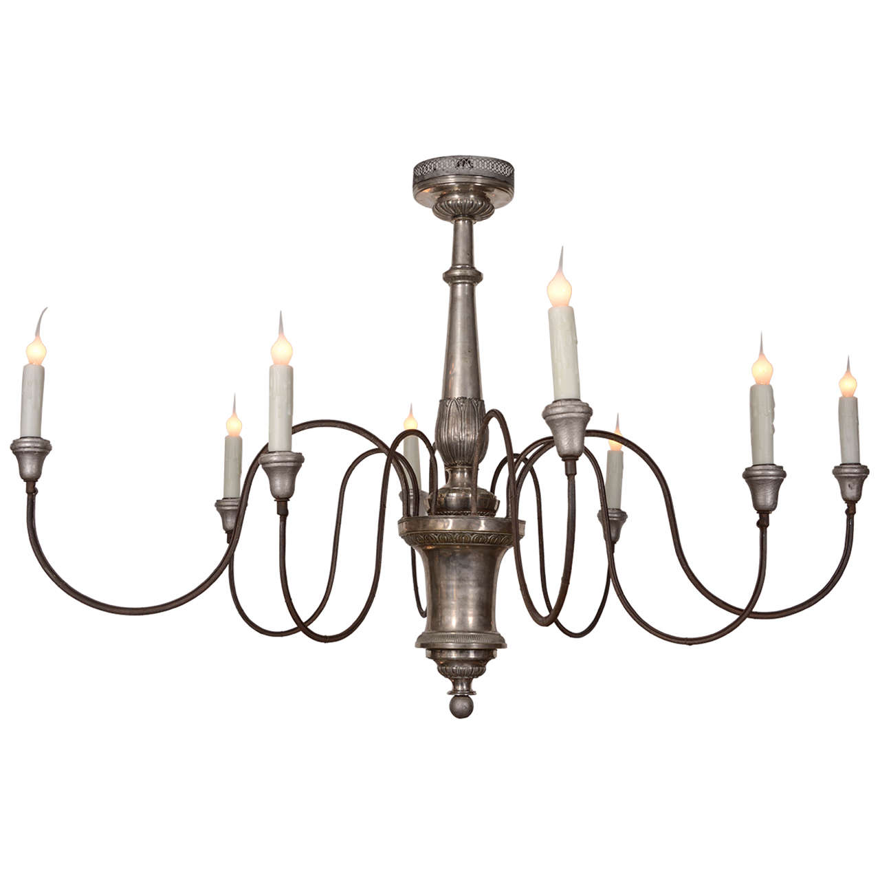 Chandelier Metal: Italian Silver Gilt Metal Chandelier At 1stdibs,Lighting