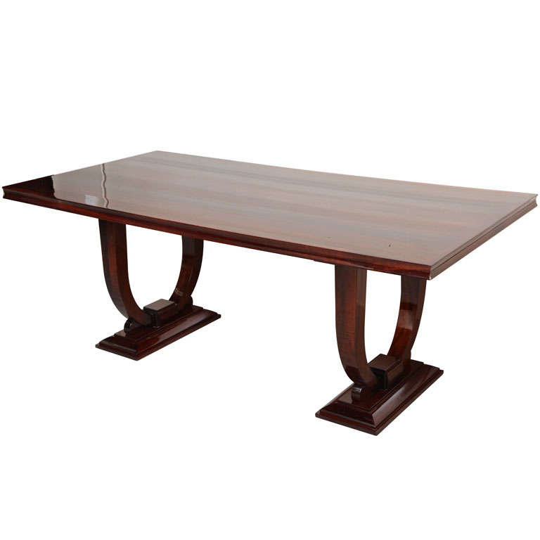 Sleek art deco dining table at 1stdibs for Sleek dining room tables