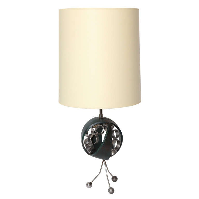 1970s Sculptural Futuristic Table Lamp
