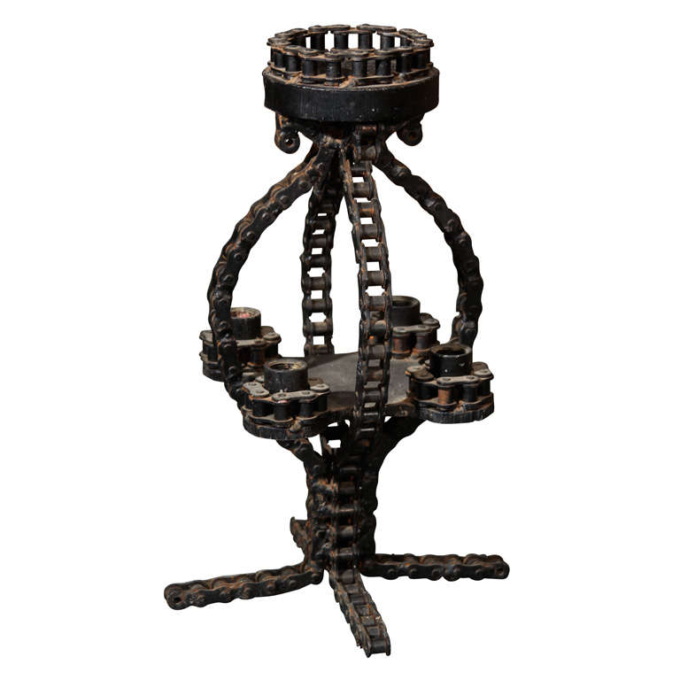 Folk Art Candelabra or Sculpture