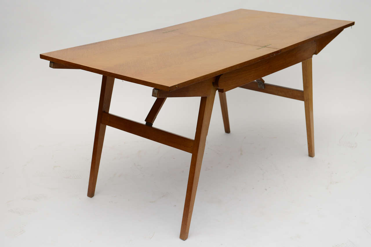 French Oak Collapsible Desk/ Cocktail Table For Sale 2
