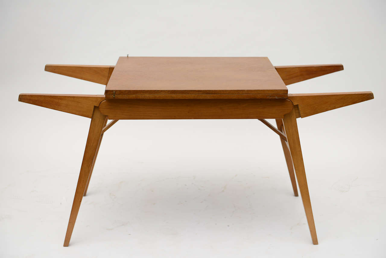 French Oak Collapsible Desk/ Cocktail Table For Sale 3