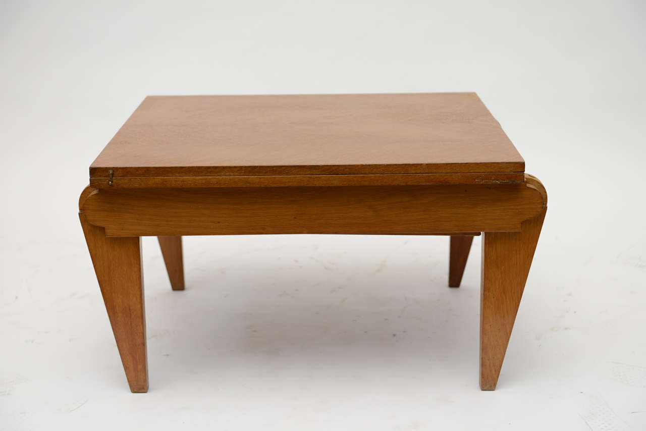 French Oak Collapsible Desk/ Cocktail Table For Sale 4