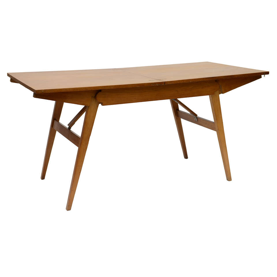 French Oak Collapsible Desk/ Cocktail Table For Sale