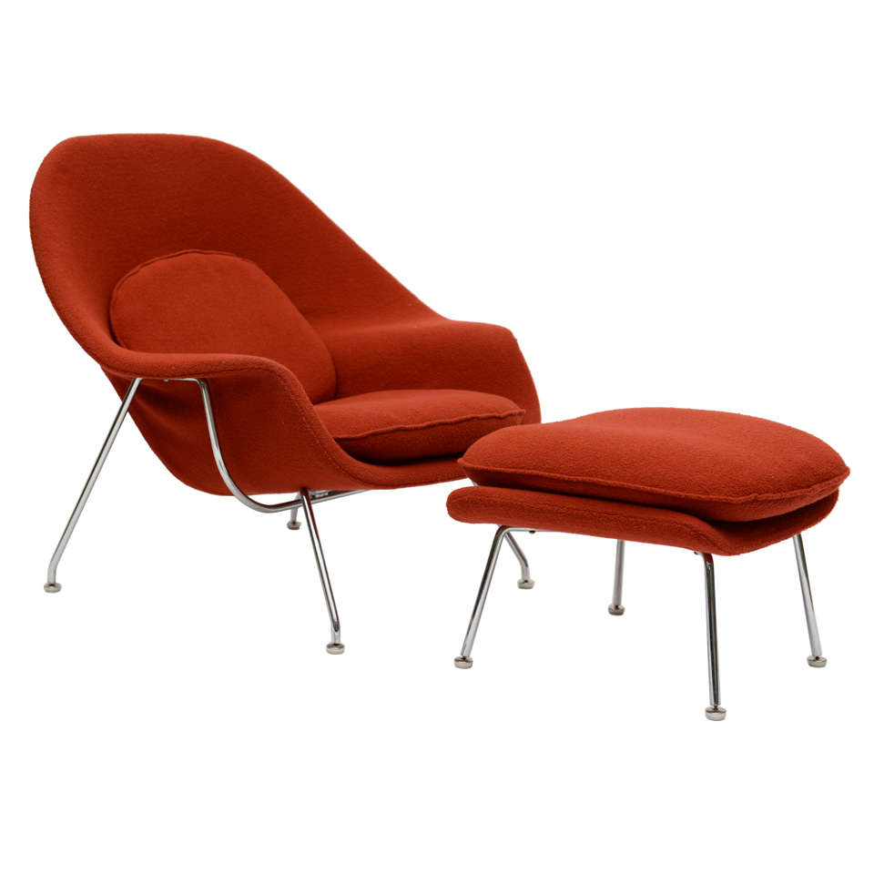 saarinen womb chair ottoman by knoll. Black Bedroom Furniture Sets. Home Design Ideas