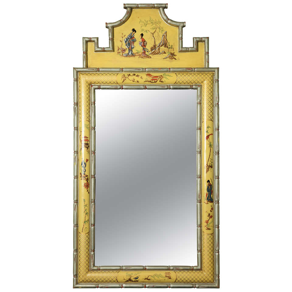 Hollywood Regency Chinoiserie Style Mirror At 1stdibs